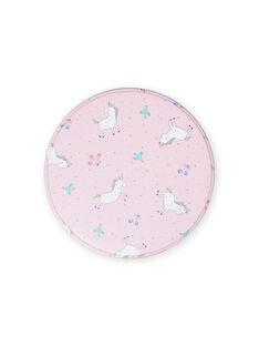 Baby Mädchen rosa Metall Snack-Box mit Einhörnern MYACLABOI / 21WI01G1D5OC205