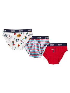 Set mit 3 Jersey-Slips für Jungen GEGOSLIJUN / 19WH12N1SLIJ920