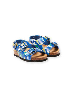Baby Boy Navy Sandalen mit Hai Druck LBGNUREQUIN / 21KK385CD0E070