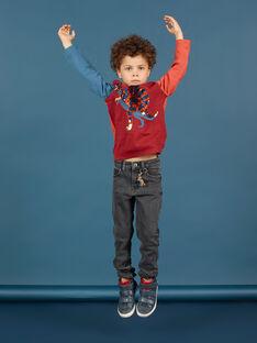 Graue Slim Fit-Jeans für Jungen MOPAJEAN / 21W902H1JEAK004