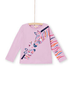 Parma-T-Shirt mit Zebra-Print aus Baumwolle LABLETEE1 / 21S901J2TML320