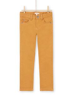 Einfarbige gelbe Jeans für Jungen MOJOPAKNI4 / 21W90222PANI814
