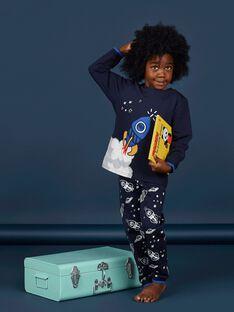 Phosphoreszierende Pyjamas für Kinder und Jungen aus gebürstetem Vlies mit Raketenmuster LEGOPYJFUZ / 21SH1213PYJ705
