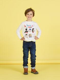 Weißes T-shirt für Jungen MOMIXTEE2 / 21W902J3TML810