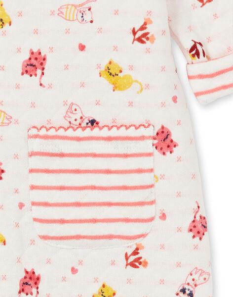 Stepp-Schlafanzug für Mädchen mit Katzen-Print LEFIGRENAU / 21SH1313GRE001