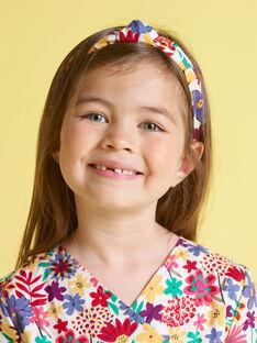 Stirnband für Mädchen mit Blumenmuster MYAJOSERR2 / 21WI01S1TET009