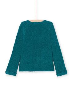 Mädchen Langarmweste einfarbig blau Ente MAJOCAR2 / 21W90115CAR714