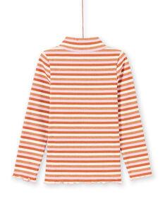 Langärmeliger Unterzieher für Mädchen mit farbigen Streifen MACOMSOUP / 21W901L1SPL420
