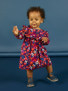 Baby Mädchen lange Ärmel Floral Print Kleid MIPAROB1 / 21WG09H6ROBD319