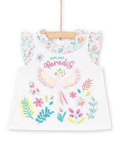 Baby Mädchen Weiß Ruffle T-Shirt LIBONBRA / 21SG09W1BRA000