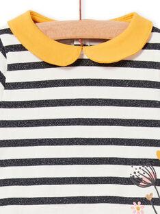 Baby-Mädchenkleid mit Lurex®-Streifen LIPOEROB3 / 21SG09Y1ROBJ916