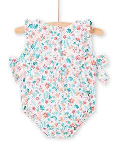 Weißer Baby Mädchen Strampler LIBONBAR / 21SG09W1BAR000