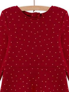 Rotes Skaterkleid für Mädchen mit Tupfen aus Fleece MAJOLROB2 / 21W901N1ROBF504