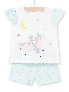 Baby Mädchen blau Pyjamas LEFIPYJNUI / 21SH13C1PYJC218