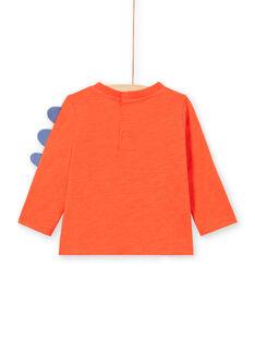 Rotes langärmeliges Dinosaurier-T-Shirt für Baby-Jungen MUPATEE2 / 21WG10H3TMLF524