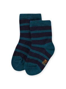 Baby Jungen Ente blau gestreifte Socken MYUJOCHOR4 / 21WI1019SOQ714