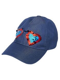 Marineblaue Mütze für Mädchen mit Wendepailletten JYAGRACAP / 20SI01E1CHAP271