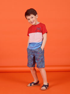 Dunkelblaue Jeans Bermudashorts Junge Junge LOVIBER3 / 21S902U3BER721
