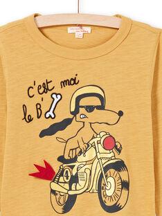 Senf-T-Shirt für Jungen MOMIXTEE3 / 21W902J5TMLB101