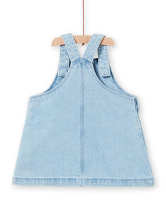 Mädchen-Baby-Jeans-Overall-Kleid LICANROB1 / 21SG09M1ROBP272