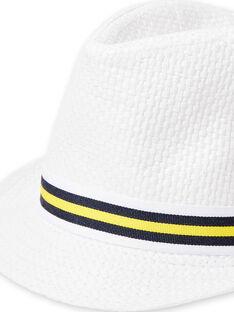 Weißer Hut Kind Junge LYOJAUCHA / 21SI02O1CHA000