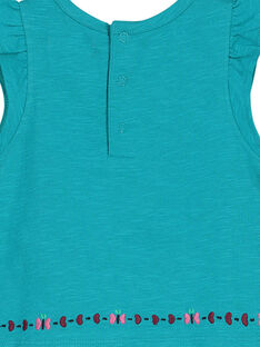 Baby-T-Shirt mit Stickerei für Mädchen FITUTI2 / 19SG09F2TMC202